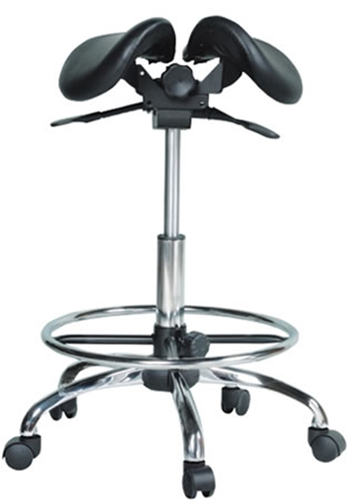 Kanewell 901SRL Twin Ergonomic Saddle Seat with Foot Ring Leather