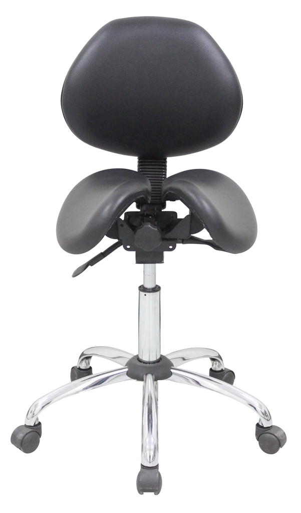 Kanewell 901sbl Twin Ergonomic Saddle Seat With Backrest