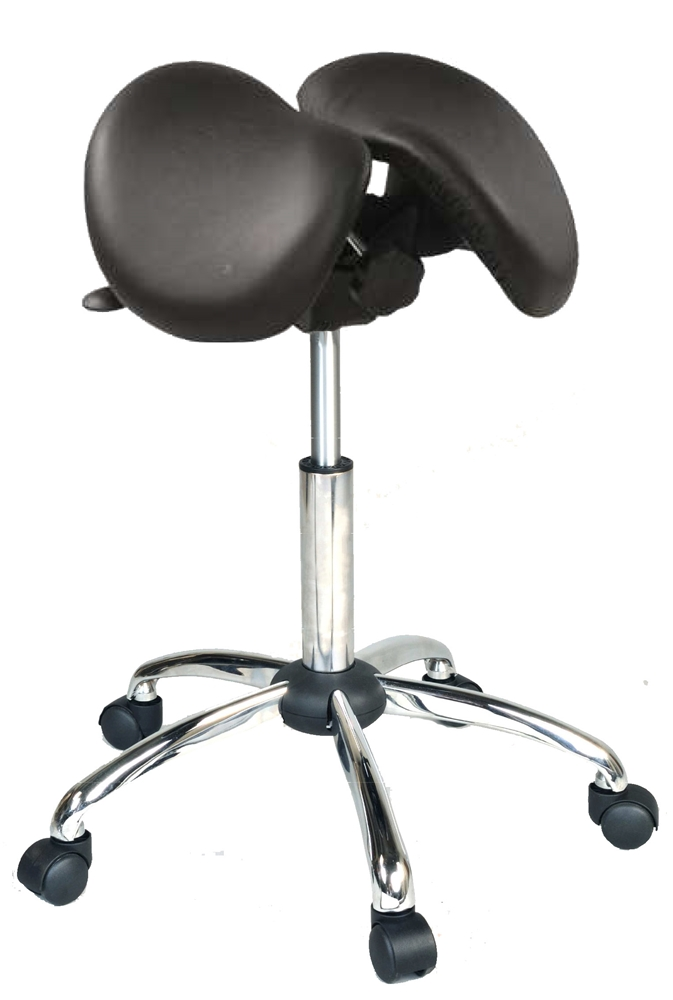 Kanewell 901snl Twin Ergonomic Saddle Seat Leather