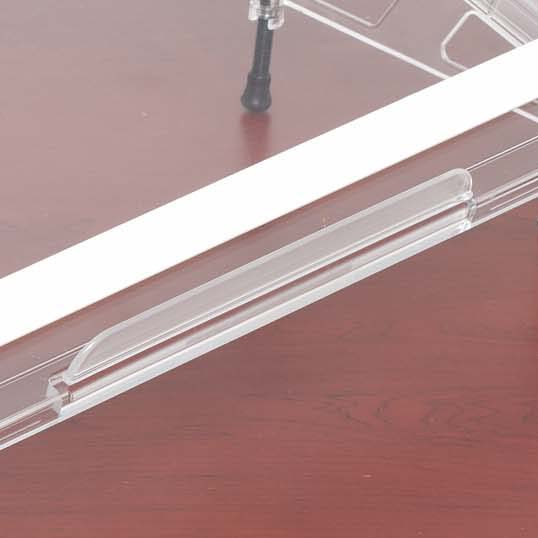 Microdesk Paper Lip / Ledge in 2 sizes for reading or writing