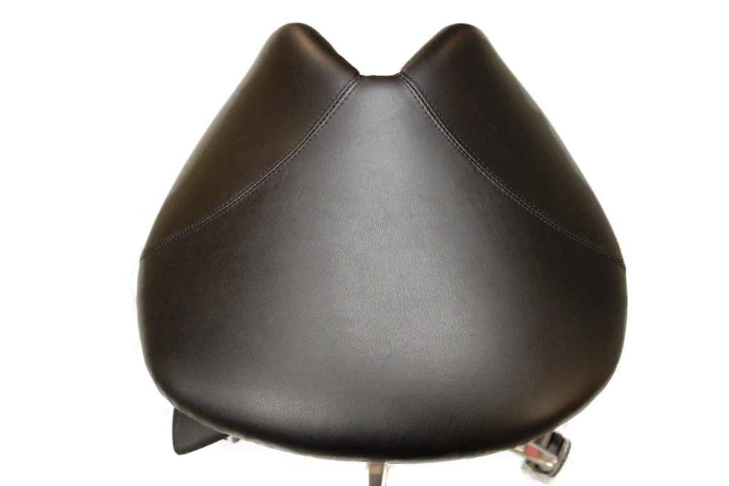 Premium Slipcover for Salli Classic Saddle Seats, Leather, Black