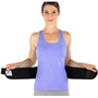 BackJack Heavy-Duty Lumbar Stabilization Back Support by Back-A-Line, Front View on Woman
