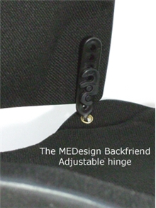 Backfriend hinge lock backrest height adjustment.