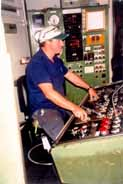 Mining control room worker using a Bambach Saddle Seat