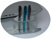 U Slope pen and pencil storage
