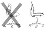 Problems using back support cushions in office chairs