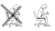 Low back support cushions don't work for forward reaching sitting tasks